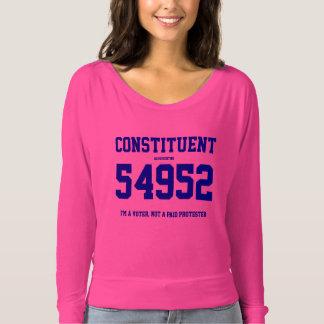 Konstituierendes Damen-T-Stück mit Ihrer T-shirt