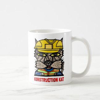 """""""Konstruction Kat"""" 11 Unze-Klassiker-Tasse Kaffeetasse"""