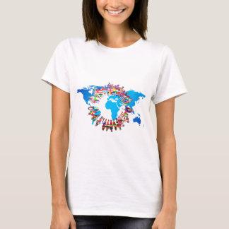 Kontinent-Leute-Flaggen-Kreis T-Shirt