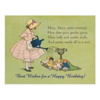 Konträres alles Gute zum Geburtstag Marys Mary Postkarte