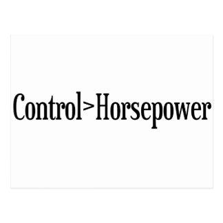 Kontrollen-Pferdestärken Postkarte