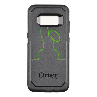 Kontur eines Hasen hellgrün OtterBox Commuter Samsung Galaxy S8 Hülle