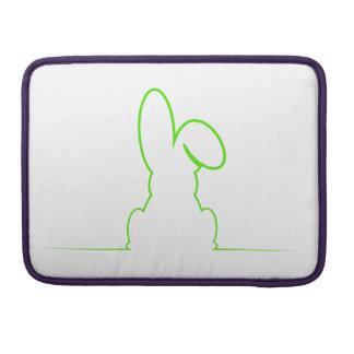 Kontur eines Hasen hellgrün Sleeve Für MacBook Pro