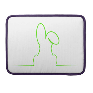 Kontur eines Hasen hellgrün Sleeve Für MacBooks