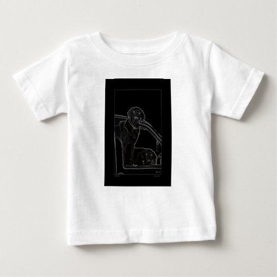 Kontur von Labrador scherzt T Baby T-shirt