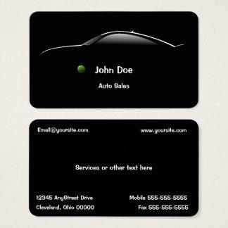 Konzept-Auto-Auto-Verkaufs-Geschäfts-Karte Visitenkarte
