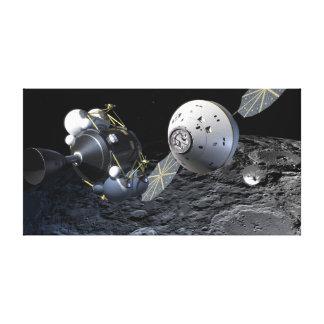 Konzept-Kunst von Orions-Raumfahrzeug in der Leinwanddruck