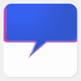 KOOLshades BLAUE Gesprächs-Blase - Massenrabatt Quadratischer Aufkleber