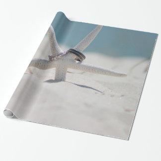 Koordinierte Strand-Hochzeits-Thema-Reihe Einpackpapier