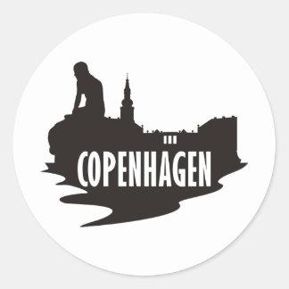 Kopenhagen Runder Aufkleber