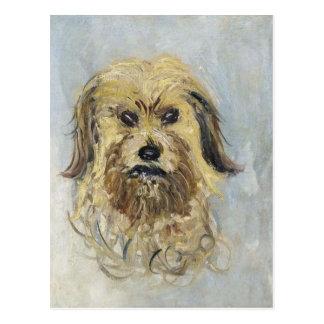 Kopf des Hundes durch Claude Monet Postkarte