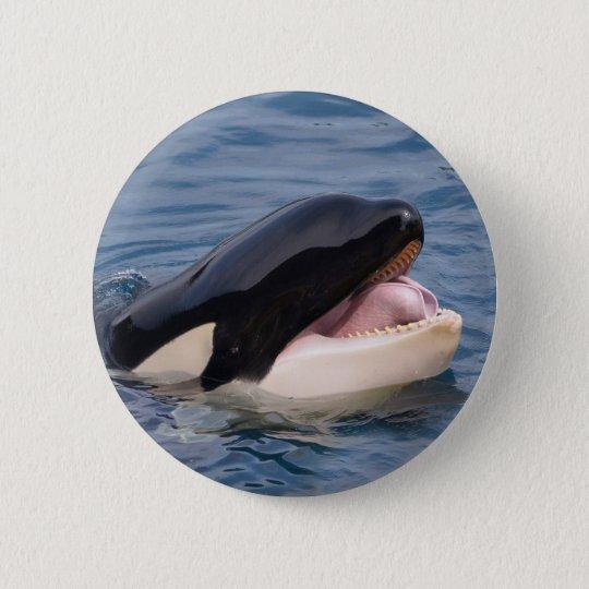 Kopf des Killerwals Runder Button 5,1 Cm
