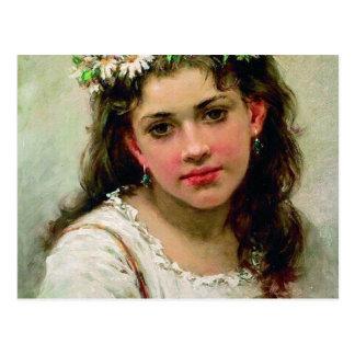 Kopf des Mädchens Postkarte