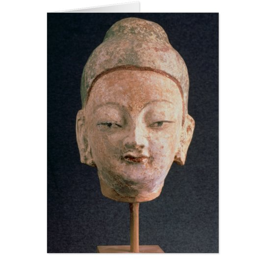 Kopf einer Statue von Buddha, von Bezeklik Karte