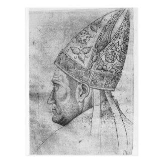 Kopf eines Bischofs, vom Vallardi Album Postkarte