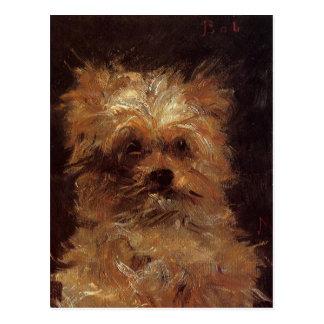 Kopf eines Hundes durch Edouard Manet Postkarte