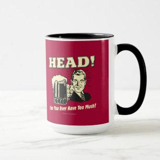Kopf: Können Sie zu viel überhaupt haben Tasse