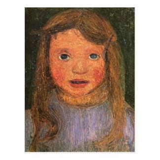 Kopf Paulas Modersohn-Becker eines kleinen Postkarte