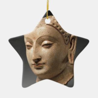 Kopf von Buddha - 5.-. Jahrhundert Keramik Ornament
