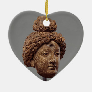 Kopf von einem Buddha oder von Bodhisattva Keramik Herz-Ornament