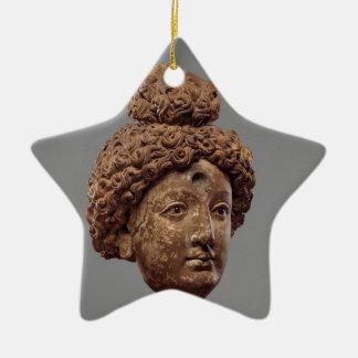 Kopf von einem Buddha oder von Bodhisattva Keramik Stern-Ornament
