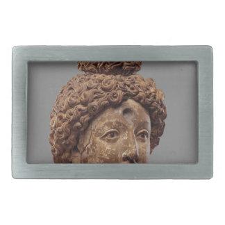 Kopf von einem Buddha oder von Bodhisattva Rechteckige Gürtelschnallen