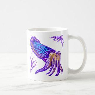 Kopffüßer-Mehrfarbenoriginalvorlage-Tasse Kaffeetasse