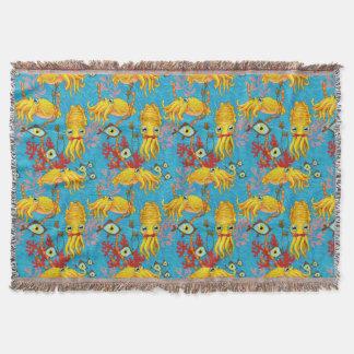 Kopffüßer-Süssenthrow-Decke Decke