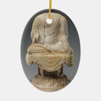 Kopfloser Buddha - Tang-Dynastie (618-907) Ovales Keramik Ornament