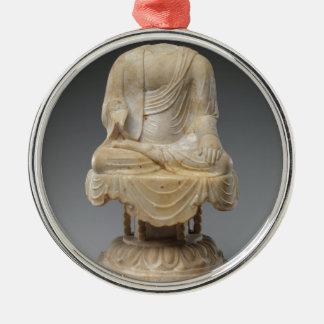 Kopfloser Buddha - Tang-Dynastie (618-907) Rundes Silberfarbenes Ornament