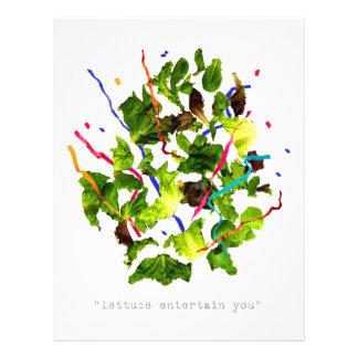 Kopfsalat unterhalten Sie - Dunkelheit 21,6 X 27,9 Cm Flyer