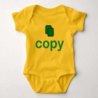 Kopieren Sie Zwillings-Baby-Jersey-Bodysuit Baby Strampler