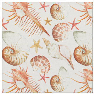 Koralle mit Monogramm des Muschel-u. Stoff