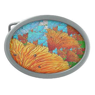 Korallenrote Illustration Ovale Gürtelschnallen