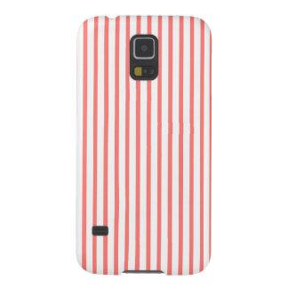 Korallenrote Koralle stripes Samsung Galaxy S5 Hülle
