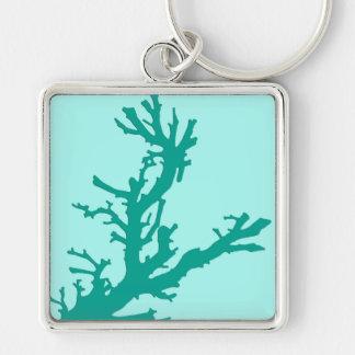 Korallenrote Niederlassung - Türkis und Aqua Schlüsselanhänger