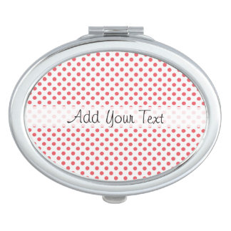 Korallenrote rosa Tupfen durch Shirley Taylor Taschenspiegel