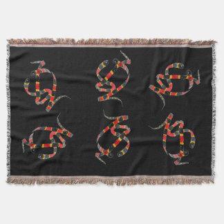 Korallenrote Schlangen-Drehungs-Kunst Decke