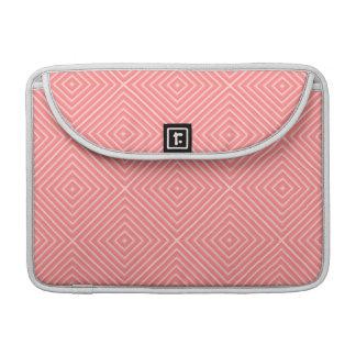 Korallenrotes Diamant-Muster Sleeve Für MacBook Pro