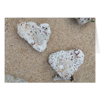 korallenrotes Liebe notecard (freier Raum nach Karte