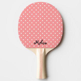 Korallenrotes Tupfen-Klingeln pong Paddel für Tischtennis Schläger