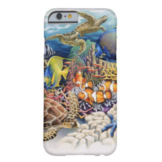 Korallenrotes Wasser mit tropischen Fischen Barely There iPhone 6 Hülle