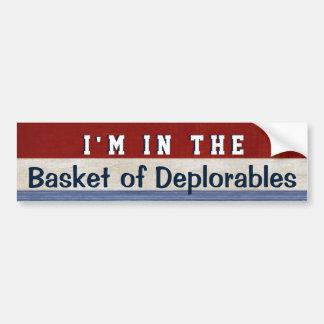 Korb Deplorables lustigen Wahlhillary-Zitats Autoaufkleber