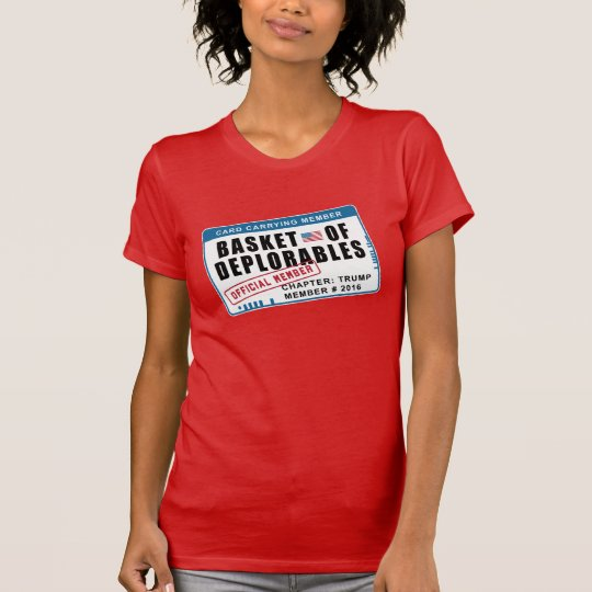 Korb des Deplorables Karten-tragenden Mitgliedes T-Shirt