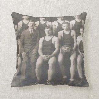 Korb-Fußballteam des dekorativen Kissens Vintages Kissen