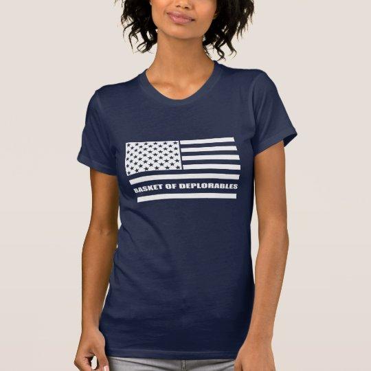 Korb von Deplorables amerikanischer Flagge T-Shirt
