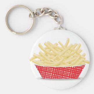 Korb von Pommes-Frites Keychain Schlüsselanhänger