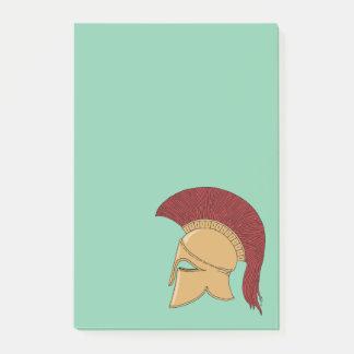 Korinthischer Sturzhelm Post-it Klebezettel