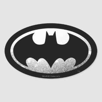 Körniges Logo Batman-Symbol-  Ovaler Aufkleber