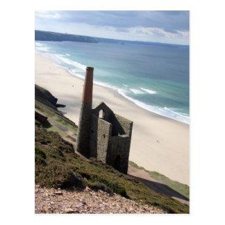 Kornisches Bergbau ruine in wheal Mühle 01 Postkarte